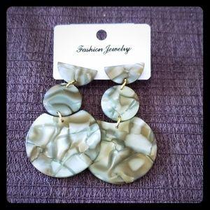 Jewelry - Handmade dangle earrings acrylic trendy